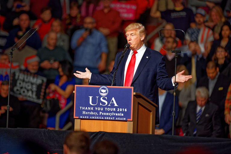 President-elect Donald Trump is bringing his post-election tour of gratitude to Hershey tonight, returning to the Giant Center six weeks after he was there for a last-minute push to win over Pennsylvania voters before Election Day.