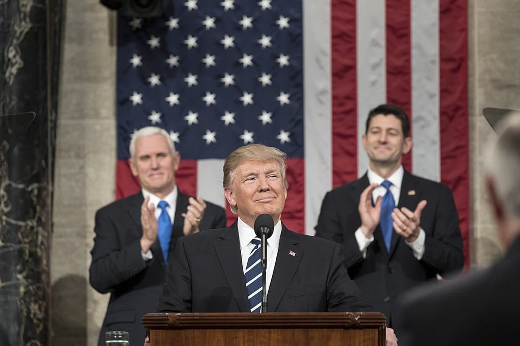 President Donald Trump delivers his Joint Address to Congress