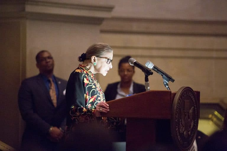 Ginsburg speaks at naturalization ceremony 2018