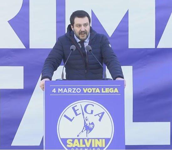 Matteo Salvini - Manifestazione Piazza Duomo - 24 Febbraio 2018