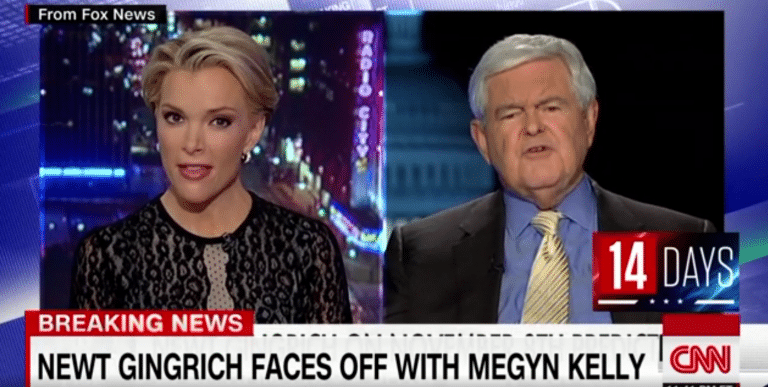 Newt Gingrich faced off with Fox News host Megyn Kelly